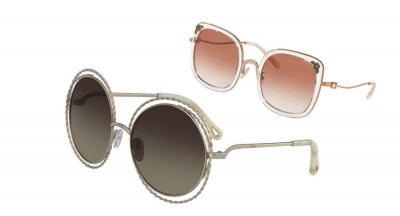 A photo of round sunglasses and square sunglasses from Rx Optical.