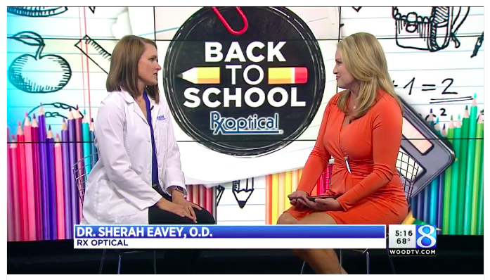 Rx Optical's Dr. Sherah Eavey talks about back to school tips for kids and their eyes.